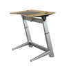 "48"" Angled Standing Desk with Oak Top and Non-Slip Mat"