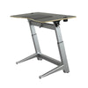 "60"" Angled Standing Desk with Black Top and No-Slip Mat"