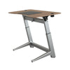"60"" Angled Standing Desk with Walnut Top and Non-Slip Mat"