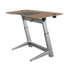 "72"" Executive Standing Desk with Walnut Top and No-Slip Mat"
