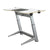 "72"" Executive Standing Desk with White Top and No-Slip Mat"