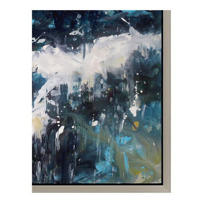 "55"" x 36"" Abstract Impressionist Wall Art in Acrylic"