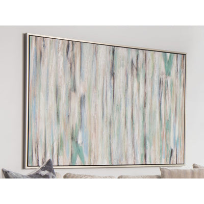 "48"" x 70"" Earthy Green & Blue Acrylic Wall Art"