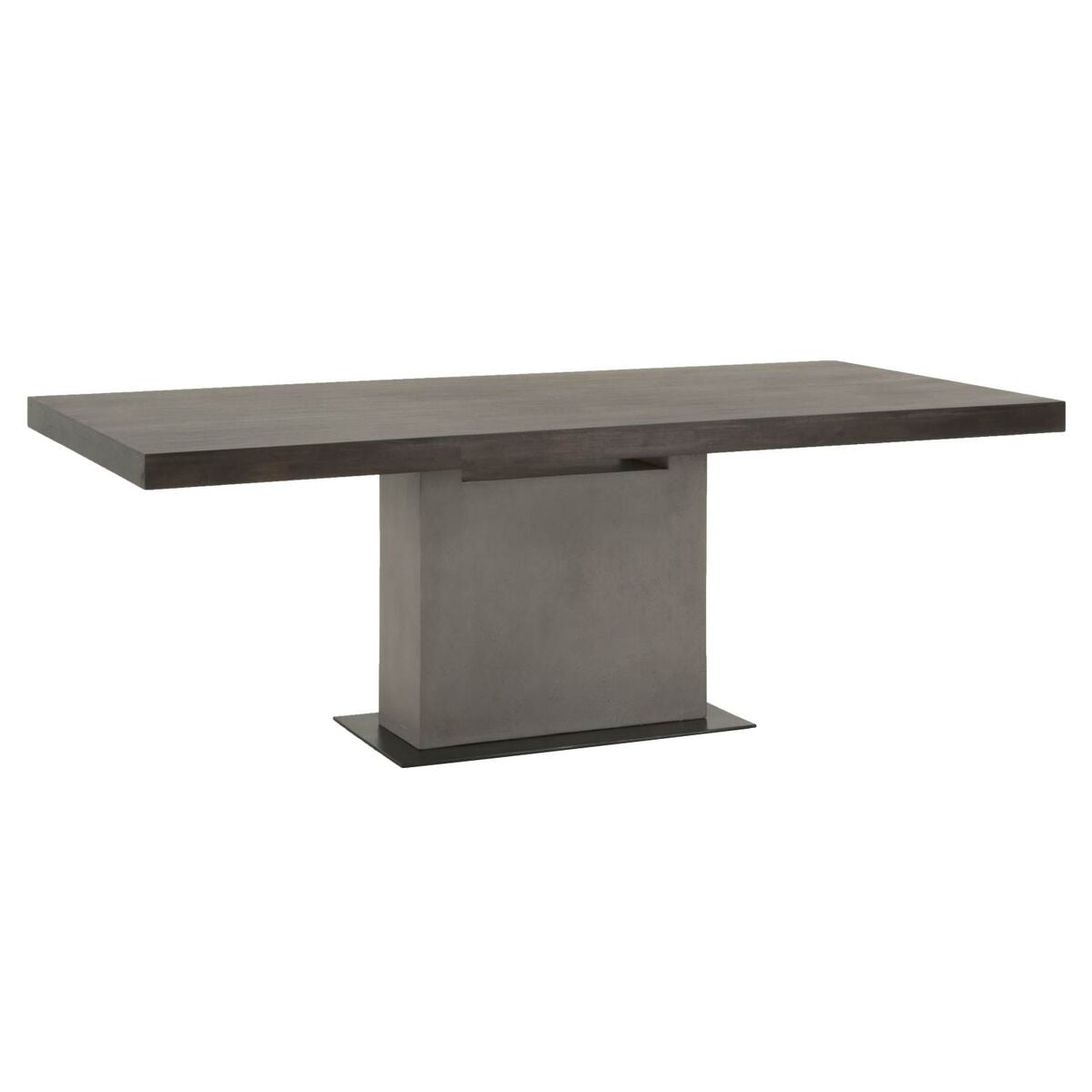 Ultra Chic Conference Table With Espresso Top Concrete Pedestal - Espresso conference table