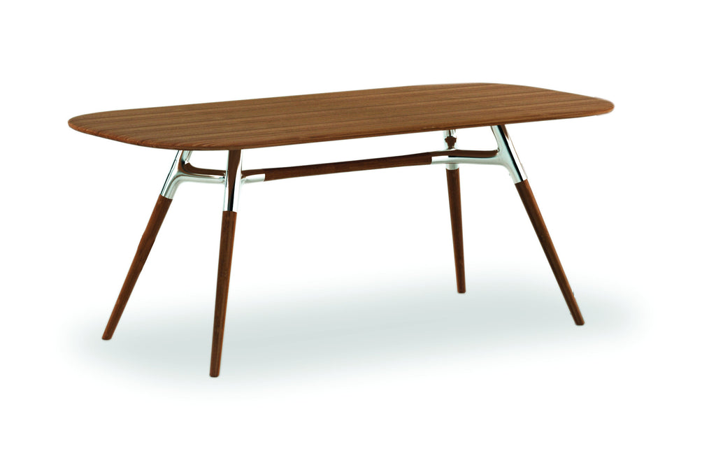 "72"" Solid Bamboo & Polished Steel Premium Office Desk or Conference Table"