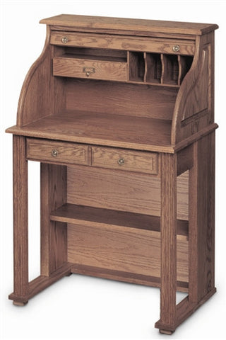 Handcrafted Solid Oak Vintage Scholar's Desk with Finish Options