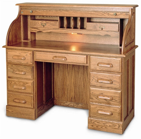 Solid Wood Double Pedestal Executive Desk with Hutch