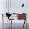 Matte Brass Desk Lamp with Black Shade