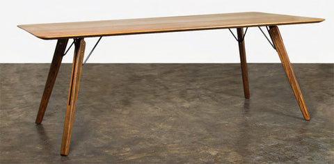 "Sleek 79"" Fumed Oak Modern Executive Office Desk"