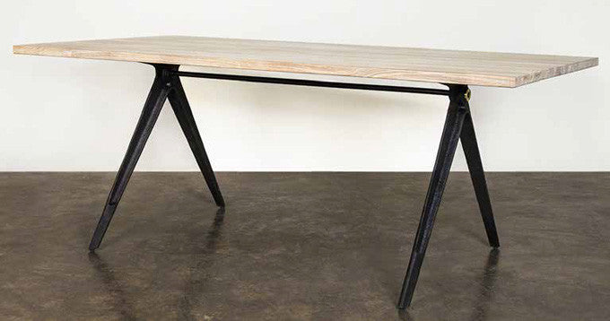 "110"" Weathered Oak Conference Table with Blackened Steel Base"