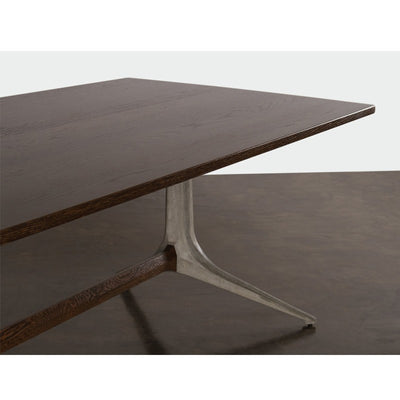 "110"" Smoked Oak & Concrete Conference Table"