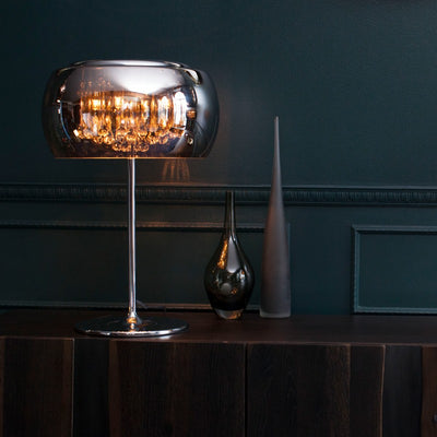 Stunning Crystal and Glass Table Lamp