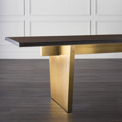 Magnificent Seared Oak & Brushed Gold Conference Table (Multiple Sizes)