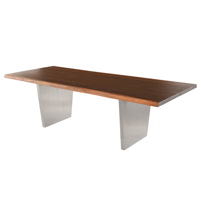 "78"" Elegant Seared Oak & Stainless Steel Executive Desk or Meeting Table"