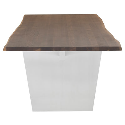 Seared Oak & Brushed Stainless Steel Conference Table (Multiple Sizes)