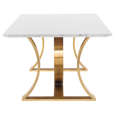 "Luxurious 78"" Gold & Marble Executive Desk or Conference Table"