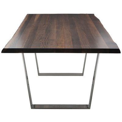Chic Seared Oak Executive Desk w/ Silver, Black, or Gold Legs