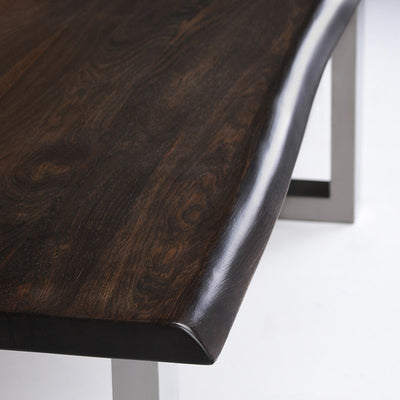 "96"" Modern Seared Oak & Stainless Steel Conference Table"
