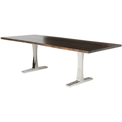 Stunning Seared Oak & Stainless Steel Conference Table (Multiple Sizes)
