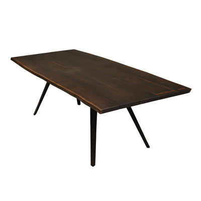 "83"" Solid Seared Oak Desk or Conference Table with Cast Iron Legs"