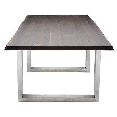 "112"" Modern Seared Oak & Stainless Steel Conference Table"