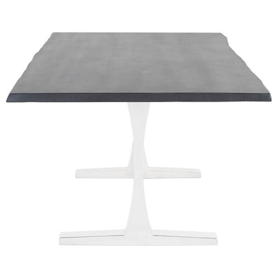 Oxidized Grey Oak & Stainless Steel Conference Table (Multiple Sizes)