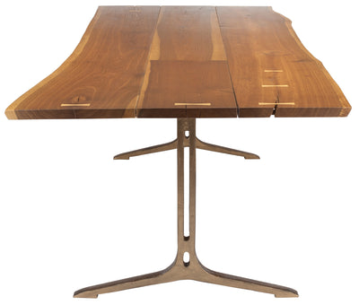 "96"" Smoked Oak & Bronze Cast Iron Conference Table"