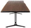 "96"" Solid Oak & Cast Iron Conference Table (Smoked or Seared)"