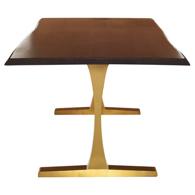 Stunning Seared Oak & Brushed Gold Conference Table (Multiple Sizes)
