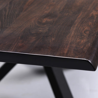"112"" Seared Oak Conference Table w/ Matte Black"