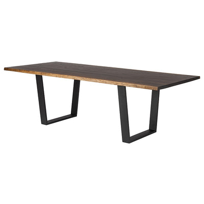 "96"" Chic Seared Oak Conference Table w/ Gold or Black Legs"