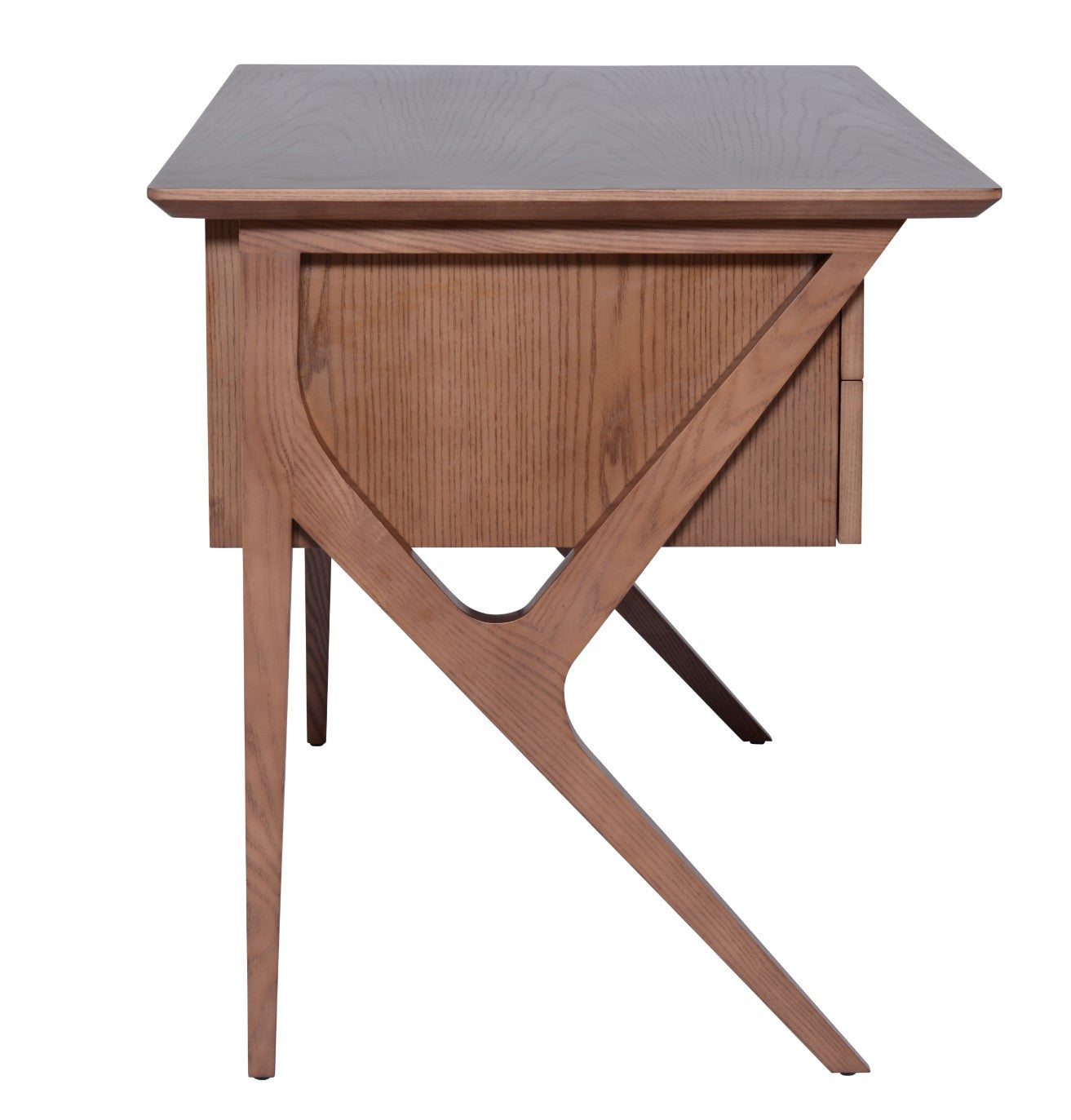 Image of: 53 Walnut Mid Century Desk With Drawers By Nuevo Officedesk Com