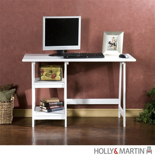 "47"" Modern A-Frame Desk in White"
