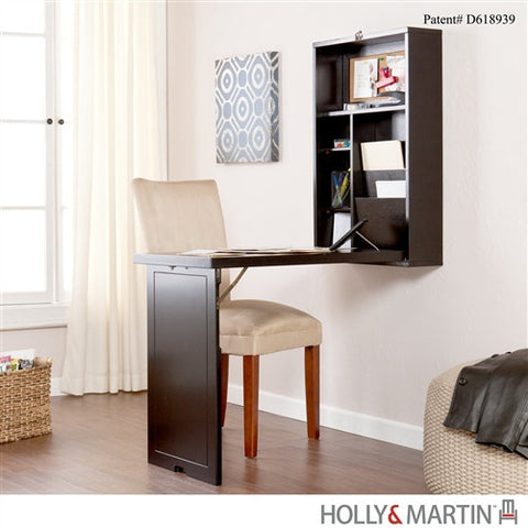 Wall Mounted Convertible Folding Desk in Black