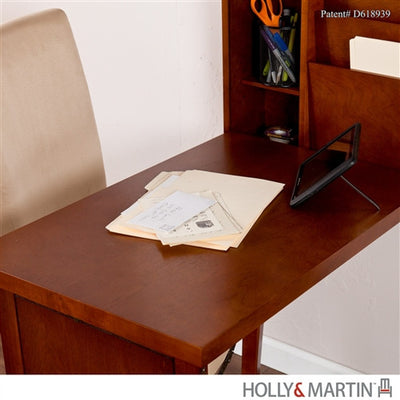 Wall Mounted Convertible Folding Desk in Walnut