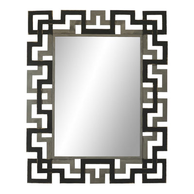 Geometric Style Mirror in Grey & Black