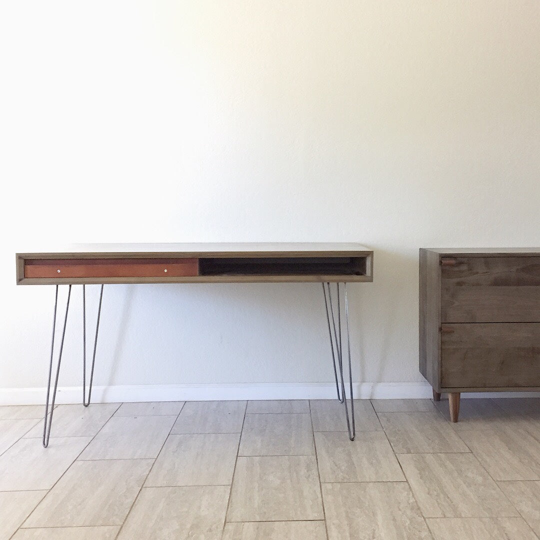 Surprising 52 Oxidized Hard Maple Hand Made Solid Wood Desk With Optional Matching File Download Free Architecture Designs Scobabritishbridgeorg