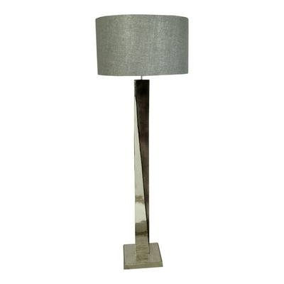 Black & Silver Office Lamp w/ Hand-Finished Metal Base