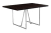 "60"" Modern Cappuccino & Chrome Office Desk with Geometric Base"