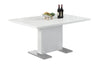 "59"" Crisp Glossy White Modern Office Desk"