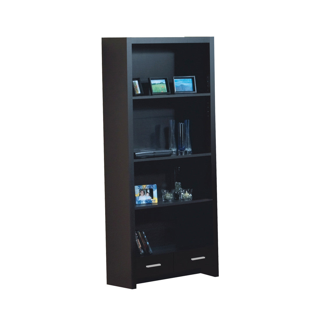 Cappuccino Corner L Shaped Office Desk With Drawers Shelving