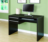 Modern Cappuccino Office Desk with Storage & Keyboard Tray