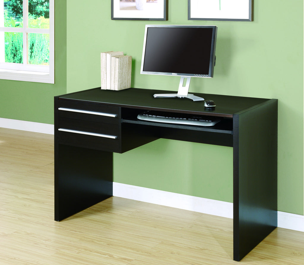 Modern Cappuccino Office Desk With Storage Amp Keyboard Tray