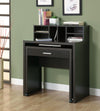 "Cappuccino 32"" Office Desk with Pull Out Work Surface & Mini-Hutch"