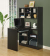Modern Office Desk & Bookcase Combination in Cappuccino Finish