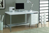 "White Three Drawer Contemporary 60"" Office Desk"