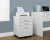 "60"" Single Pedestal Modern Office Desk in White Finish"