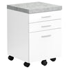Modern White Filing Cabinet w/ Cement Look