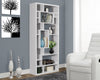 "Modern 72"" Tall White Bookcase from Monarch"