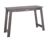 "Light Grey 42"" Compact Office Desk in Dark Taupe"